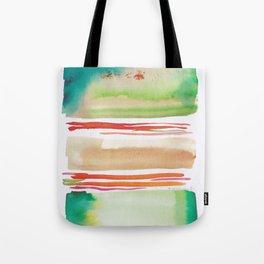5   |181026 Lines & Color Block | Watercolor Abstract | Modern Watercolor Art Tote Bag