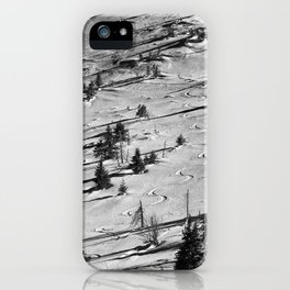 Snowy winter in the mountains iPhone Case