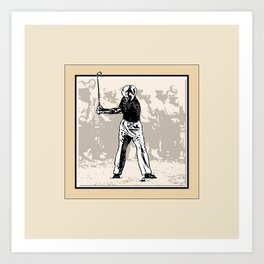 The Masters' Swing 3 of 6 Art Print