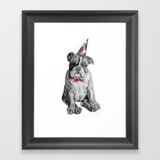 Party Dog Framed Art Print