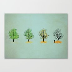 the death of tree Canvas Print