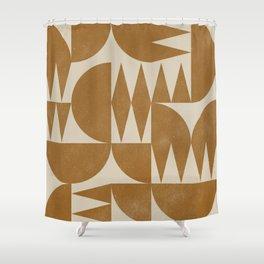 Woodblock Pattern Shower Curtain