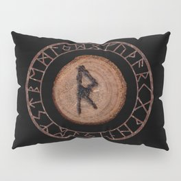 Raidho Elder Futhark Rune Travel, journey, vacation, relocation, evolution, change of place Pillow Sham