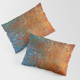 Vintage Rust, Copper and Blue Pillow Sham