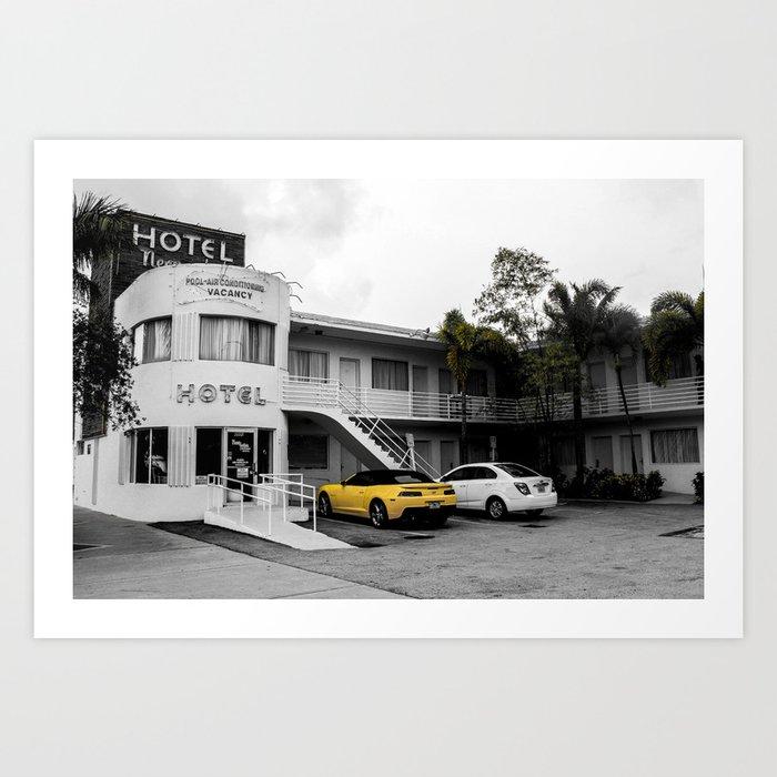 ArtWork Hotel Miami Florida USA PhotoArt Art Print