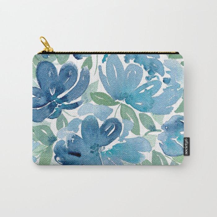 Little Bouquet Blue Carry-All Pouch