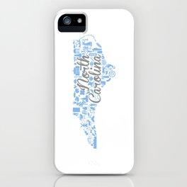 UNC North Carolina State - Blue and Gray University of North Carolina Design iPhone Case
