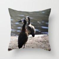 ducks Throw Pillows featuring Ducks by Phil Hinkle Designs