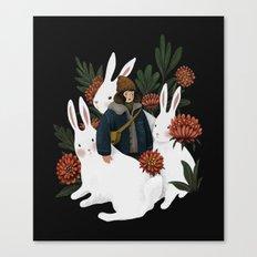 The rabbit garden Canvas Print