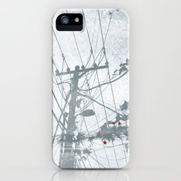 Flowers on the Power Lines iPhone Case