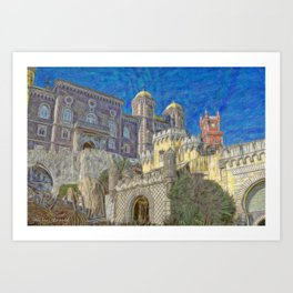 Palacio da Pena Art Print