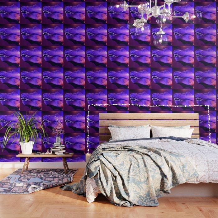 T-Rex Disco King Red & Purple Lights Wallpaper