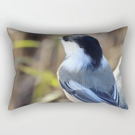 Black-capped Chickadee Rectangular Pillow