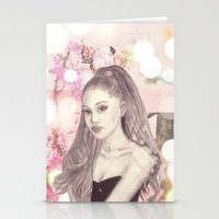 ariana grande Stationery Cards featuring Ariana by Share_Shop