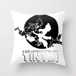 tintin Throw Pillow