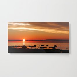 Cruising into the Sunset Metal Print