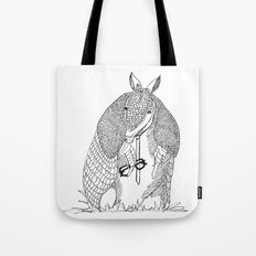 hipster 'dillo Tote Bag