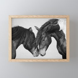 Horses - Black & White 4 Framed Mini Art Print