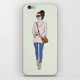 The Girl Next Door Fashion Illustration iPhone Skin