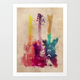 guitars 2 Art Print
