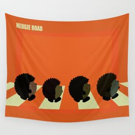 Hedgie road Wall Tapestry