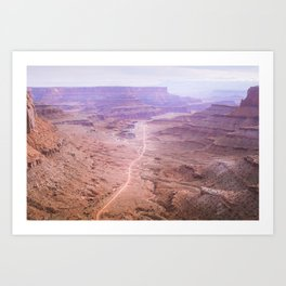 Road through the Canyonlands Art Print
