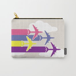 Colorful airplanes Carry-All Pouch