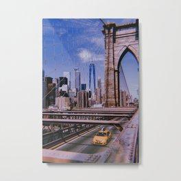 New York City // Retro 13 Metal Print
