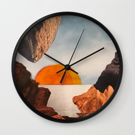 Collage chaud Wall Clock