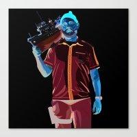 steve zissou Canvas Prints featuring Steve Zissou by Natasha Martono