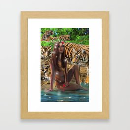 Tiger Beach Framed Art Print