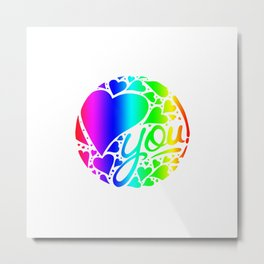 Colorful Love Metal Print