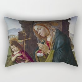 "Sandro Botticelli ""Adoration of Christ with Saint John"" Rectangular Pillow"