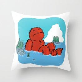 Casco Bay Basking Throw Pillow
