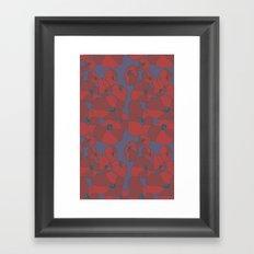 Mauve Poppies Framed Art Print