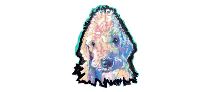 Bedlington Terrier Fun Pop Art Coffee Mug