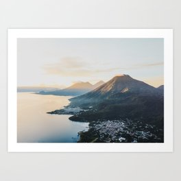 Sunrise over Lake Atitlán Art Print