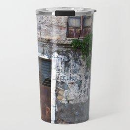 Old Sicilian facade of Taormina Travel Mug