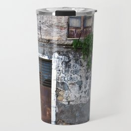 Old Sicilian facade of Taormina Travel Mug