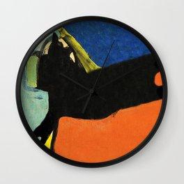Black Dog and Green Ball Wall Clock