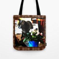 marley Tote Bags featuring Get Down Marley by LEEMARIE