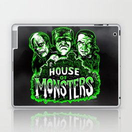 House of Monsters Phantom Frankenstein Dracula classic horror Laptop & iPad Skin