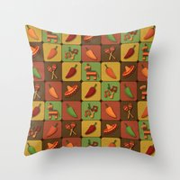 mexican Throw Pillows featuring Mexican Squares by Matt Andrews