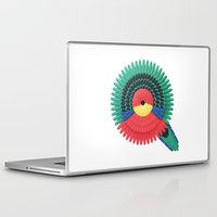 western Laptop & iPad Skins featuring Western Rosella by Marine Coutroutsios