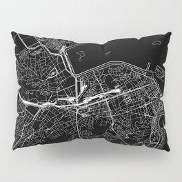 Rio De Janeiro Black Map Pillow Sham