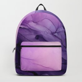 Purple Amethyst Crystal Inspired Abstract Flow Painting Backpack