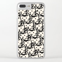 Basic Cats Everywhere Clear iPhone Case