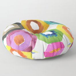 abstract shapes: colorful art Floor Pillow