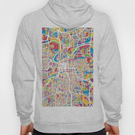 Kansas City Missouri City Map Hoodie