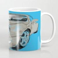 porsche Mugs featuring Mikes Porsche  by Carlota Atlee
